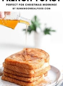 Pinterest graphic for vegan French toast recipe.