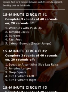 45minute noequipment hiit workout  running on real food