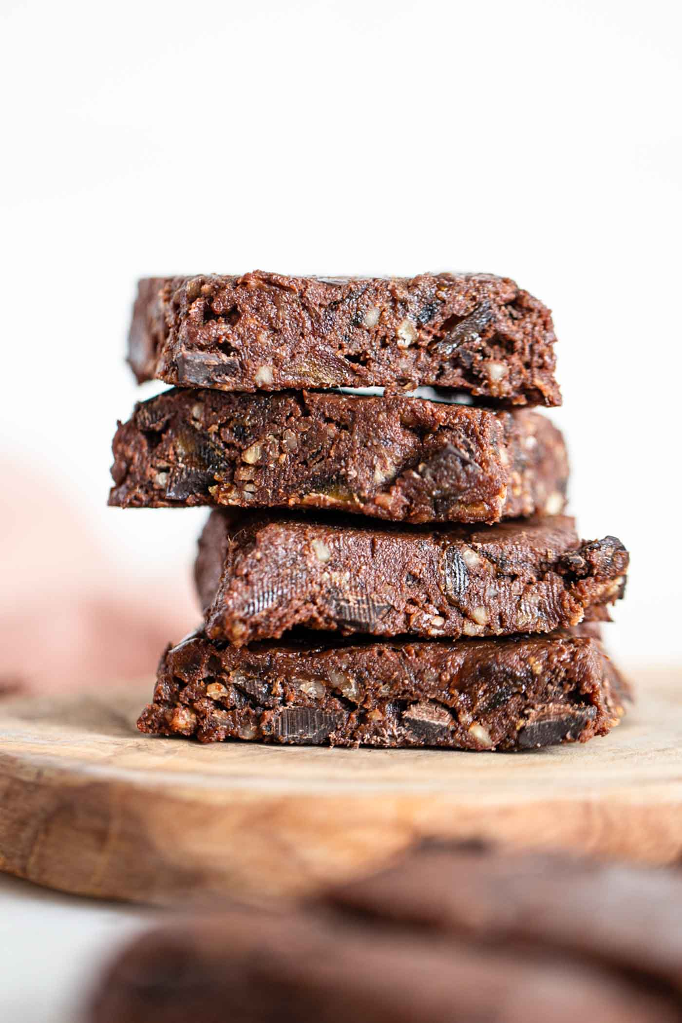 Double Chocolate Raw Vegan Brownies Running On Real Food