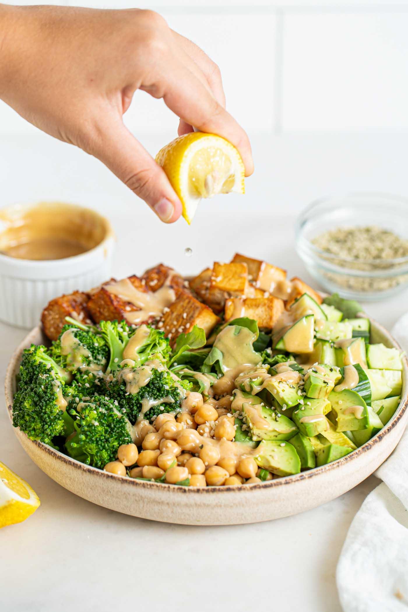 Vegan Protein Salad Bowl Running On Real Food