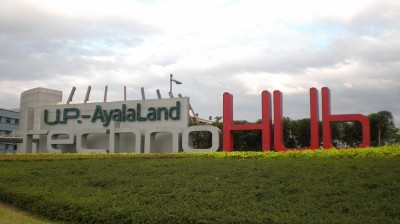One of the new installations along Commonwealth Ave. - UP AyalaLand TechnoHub
