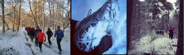 Hardlopen in de sneeeuw