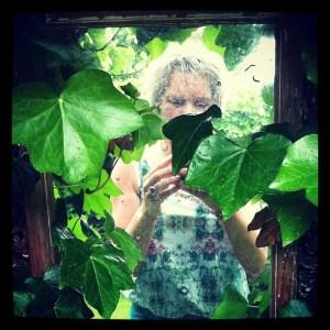 Rita in tuin