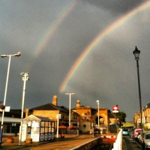 Brydene en rainbow