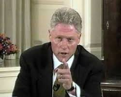 Bill 'I did not have a sexual relation with that woman' Clinton