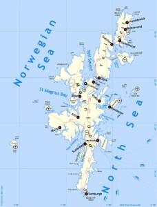 Shetland kaart