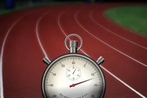 stopwatch running track