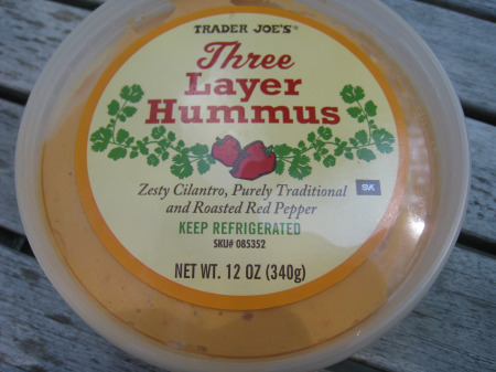 Three-layer hummus