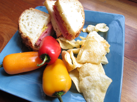 11.13 Sandwich with tricolor peppers