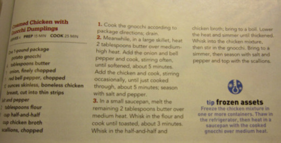 11.7 dinner recipe
