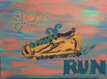 """Go Run"" - Acrylic"
