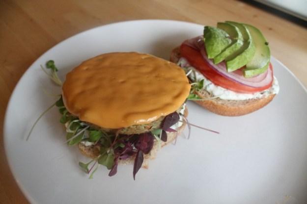Sunshine Burger: Cali Burger top and bottom
