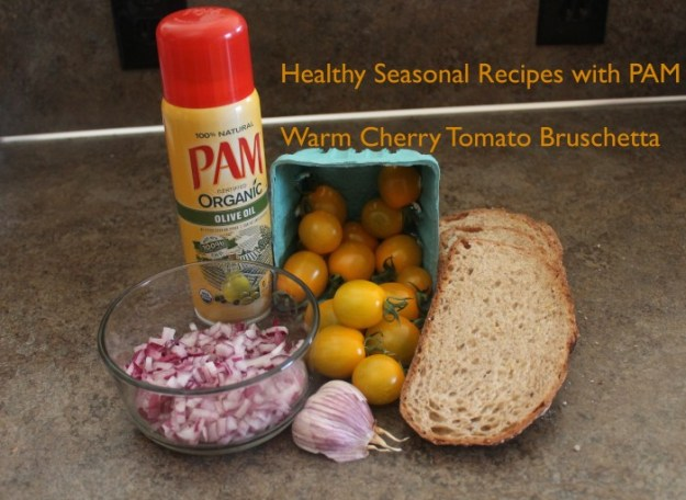 Healthy Seasonal Recipes with PAM | Warm Cherry Tomato Bruschetta