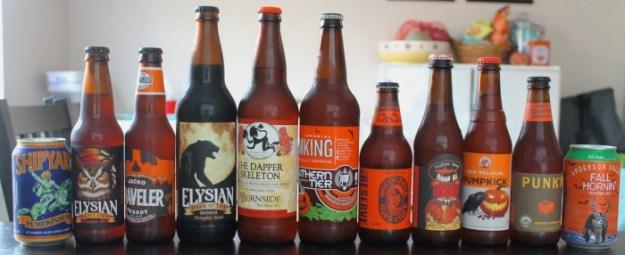 Pumpkin Beer Tasting 2014 - Beers