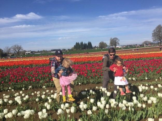 March 2015 - Tulip Fest - girls lift
