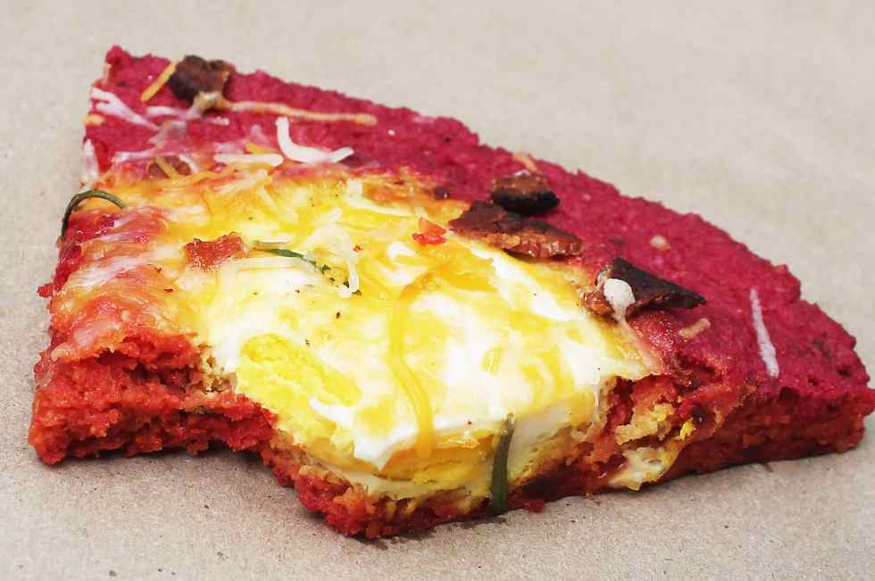 bite of beet breakasft pizza