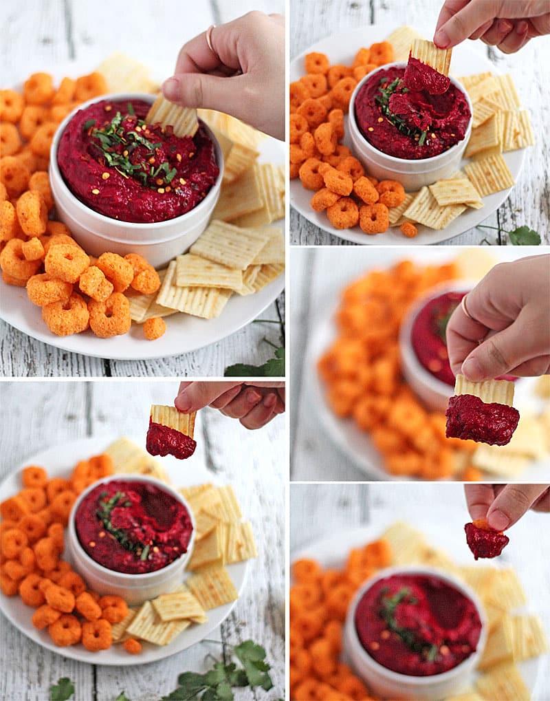 Crunched-Grooves-Spiced-Beet-Navy-Bean-Dip-@RunninSrilankan
