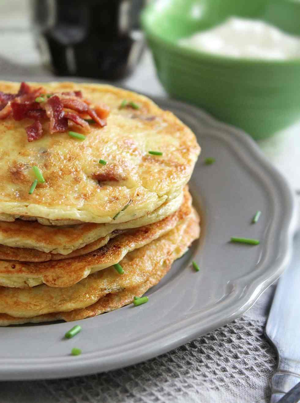 Gluten Free Potato Bacon Pancakes