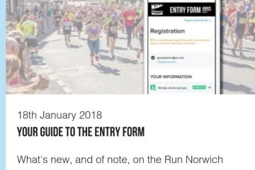 Active Networks the registration provider for Run Norwich
