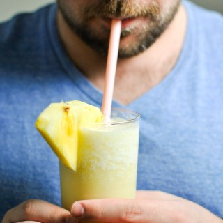 theese Broiled Pineapple Piña Coladas are the sweetest summer drink you