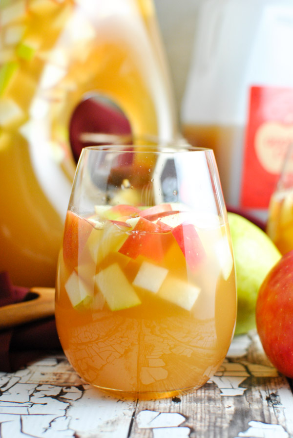 oh. my gosh. Caramel Apple Cider Sangria it's OCTOBER IN A GLASS. so good. and so easy.   thepikeplacekitchen.com
