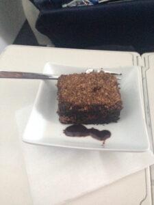 Chocolate cake first class us airways