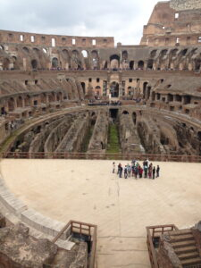 The Roman Guy, Shakeout Tour, Rome Italy, Colosseum, Floor, March 22, 2014