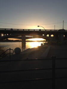 I love being at Tempe Town Lake at sunrise - so pretty.