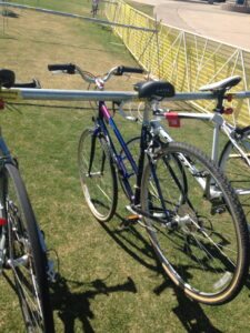 Bike's racked and ready to go