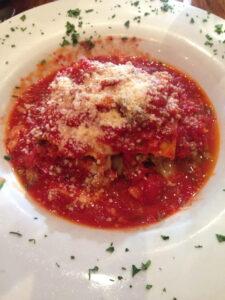 lasagna, buon appetito, dinner, prerace, carbloading, little italy, san diego, california