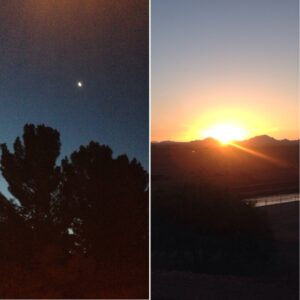 Start in the moonlight, end with sunlight