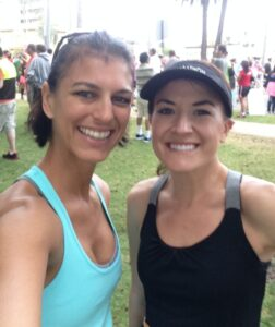 Rhea & I Pre-Race