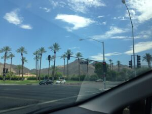 Heading home from Palm Springs