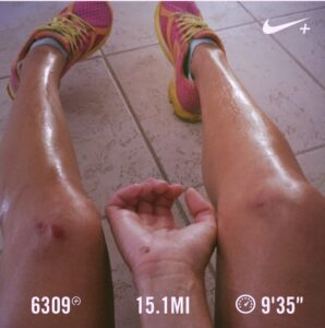 runner problems - totally wiped out 13.5 mi in :(