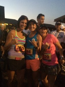Rhea, Vanessa & I giving Sean a shout out as he runs the Tahoe 200!