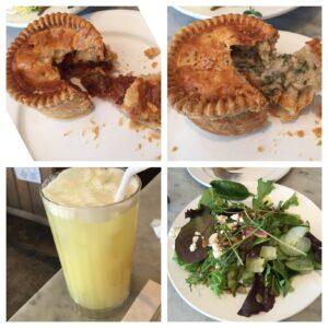 Pleasant House Bakery, Chicago, Royal Pie, Kale & Mushroom, Steak & Ale, Ginger Fizz, Pleasant Farms Salad