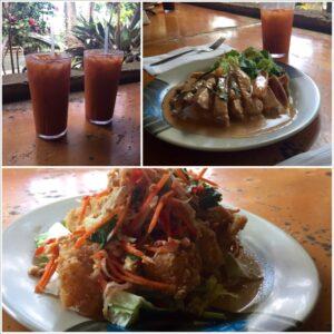 Thai, food, Hana, Hawaii, Maui, Crispy Opaka, Thai Iced Tea, Panang Curry, seared ahi