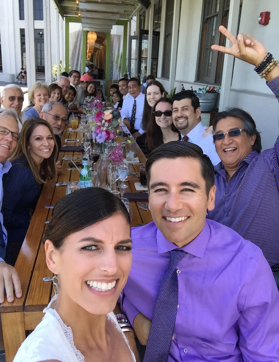 Wedding Selfie, The Plant Cafe, Pier 3, San Francisco