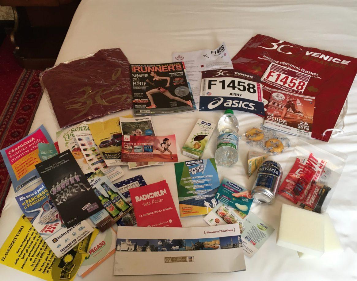 Venice Marathon, 30th Anniversary, Marathon, Venice, Italy, 2015, Goodie Bag