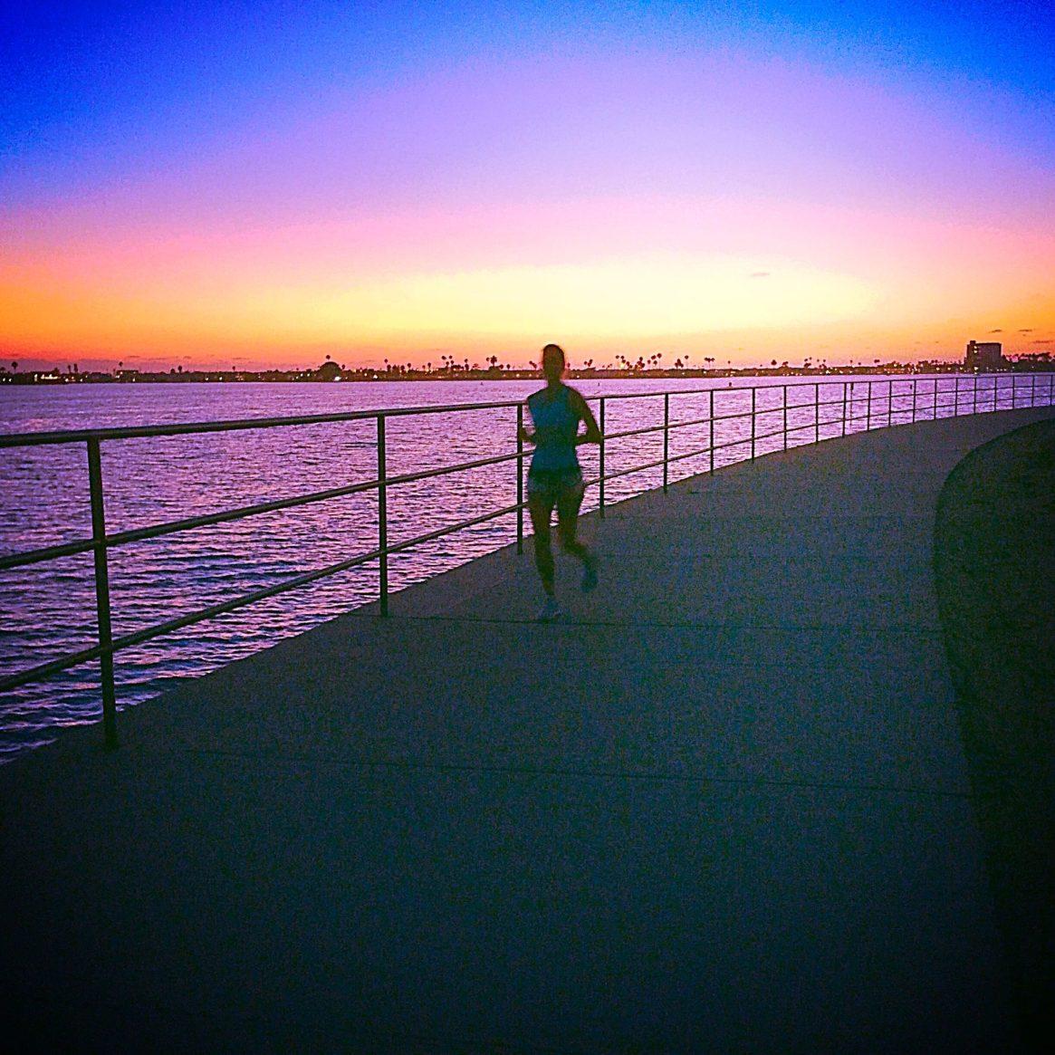 Mission Bay, San Diego, Runner, Sunset, Altra Running