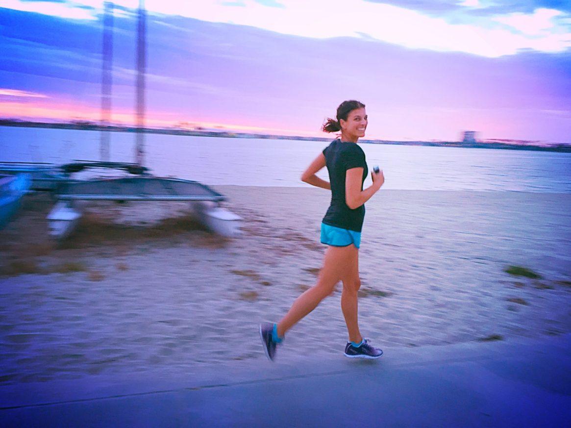 Mission Bay, San Diego, Runner, Sunset, Altra Running, Beach Run