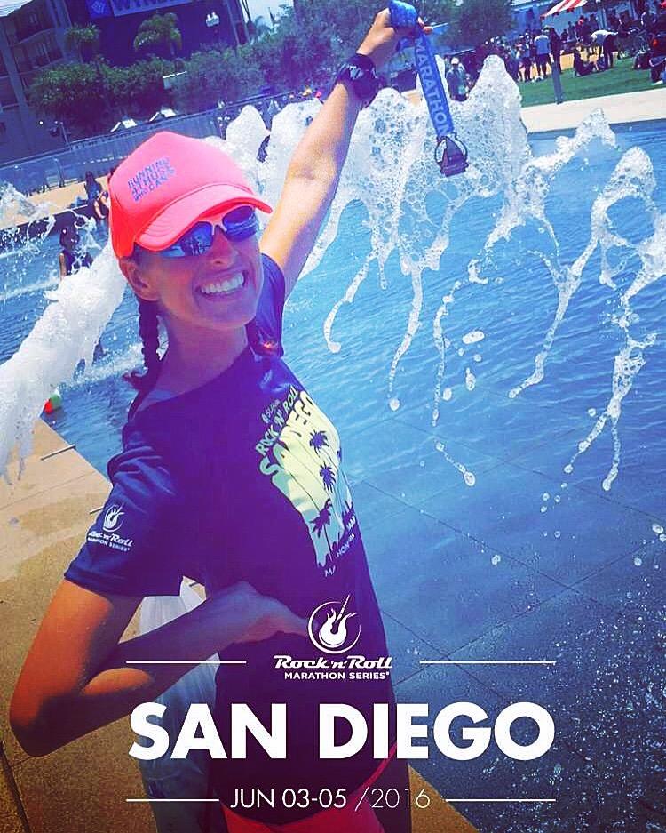 we run social, procompression, waves, Start Line, San Diego Rock n Roll, RNRSD, Half Marathon, Marathon, Medal Monday