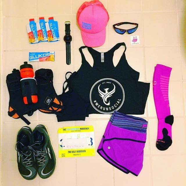 The SF Marathon, Running4thosewhocan't, Orange Mud, XX2i, Lululemon, We Run Social, ProCompression, San Francisco, Glukos, Altra Running, Garmin