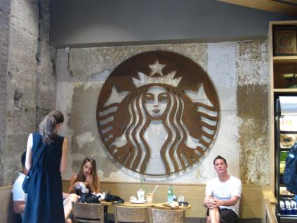 The Barcelona Starbucks. We have our priorities when we travel.