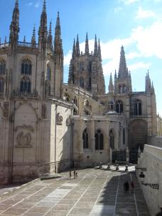 The cathedral in Burgos.