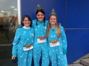 2013 Holiday Half Marathon PJ Girls