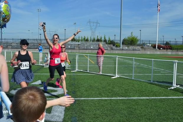 """""""This is my recipe in one pic."""" Amy competes her first half marathon last May- something she never thought she could do.   You can just see the gratitude, appreciation, friendship and competition all over her smiling face!"""