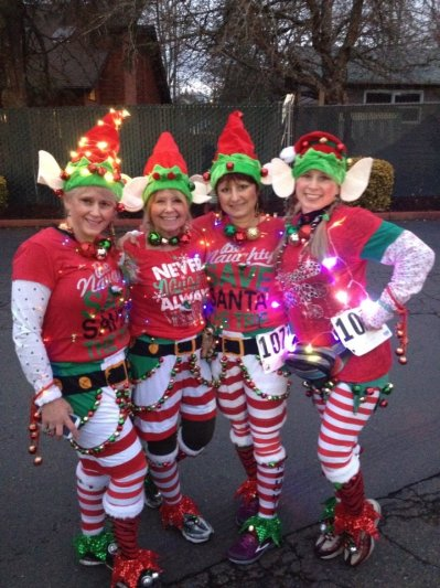 The Elf Brigade was out and decked out in their best holiday outfits! - Photo by Matt Rasmussen