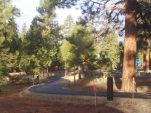 """Some of the paved trails comprising the race course . - Photo by Sisters """"Better Half"""" Marathon"""