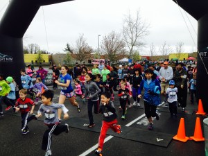 The start of the Jr. Jaguar run, some speedy runners!  Photo Credit:  Amy Little